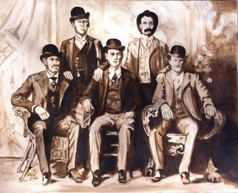 The Pinkerton Reward, Giccle print on canvas