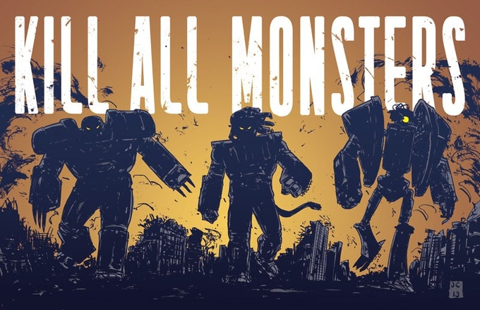 Kill All Monsters print by Jason Copland