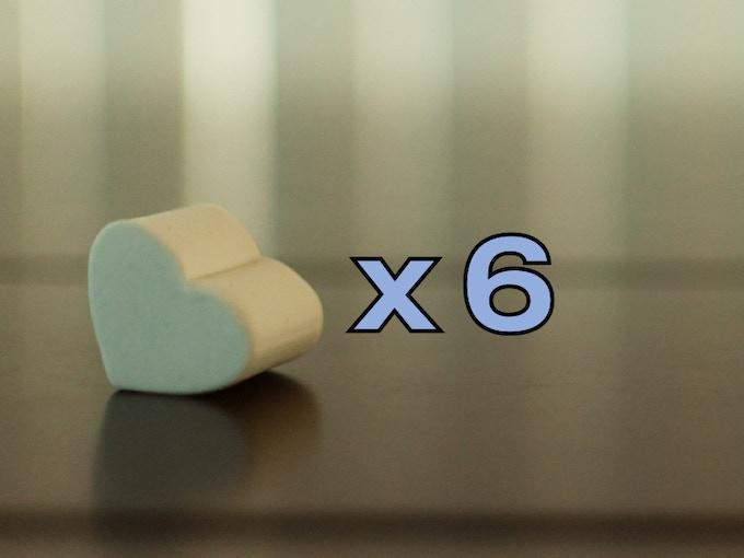 """Hearts - 1 1/16"""" x 1 1/16"""" x 1 1/16"""""""