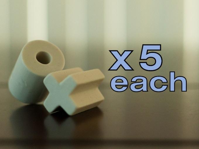 """X's and O's - 1 1/16"""" diameter x 1 1/4 length"""