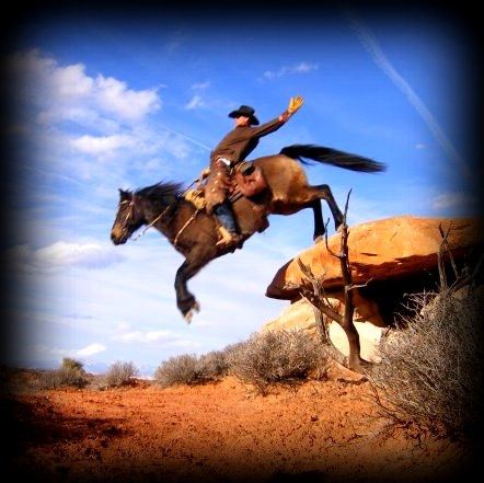 #8 Bill Long Reward has an 11X14 and the #5 Cowpuncher Reward has an 8X10 gallery wrapped Faux Canvas Photograph of stunt cowboy from filming. It will look something like this.