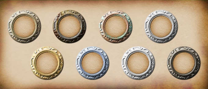 The runic epic rings can be placed on your 1x1 tokens (the color of the parchment and icon will be unaffected). These are a Kickstarter exclusive reward.