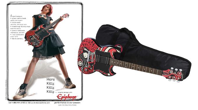 $1,000 REWARD Emily Epiphone SG guitar + gig bag (girl not included)