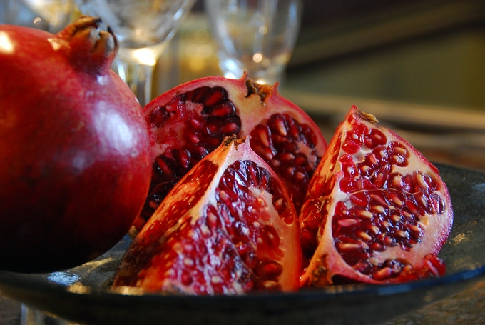 Pomegranates. Photograph taken by Madlyinlovewithlife, Flickr
