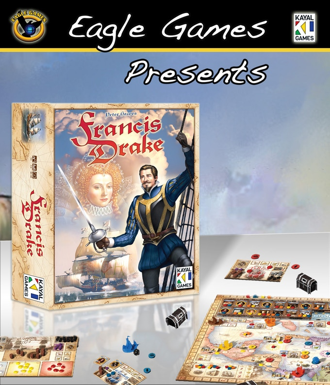 francis drake an adventurous sea voyage for fortune fame by eagle games kickstarter. Black Bedroom Furniture Sets. Home Design Ideas