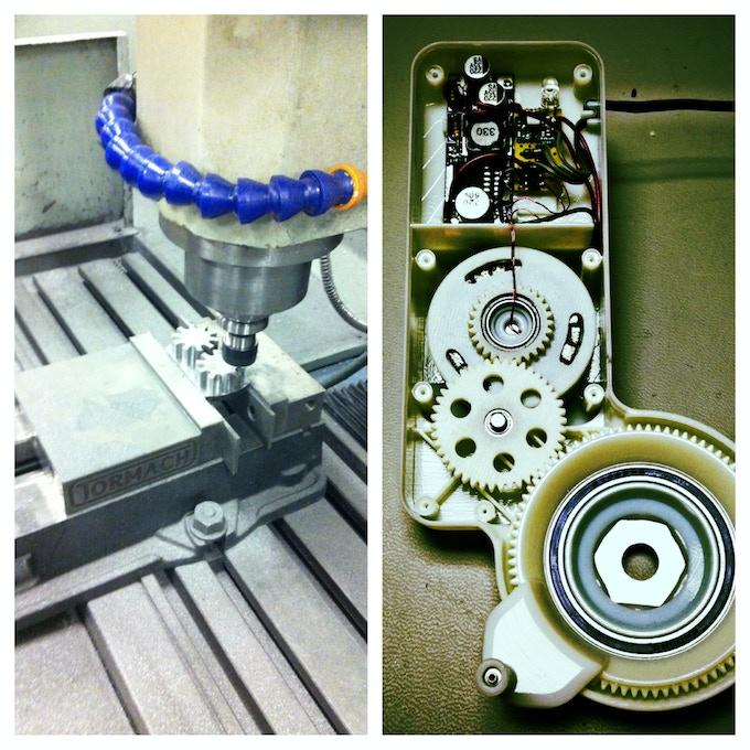 Left - Machining generator parts, Right - Inside the Atom