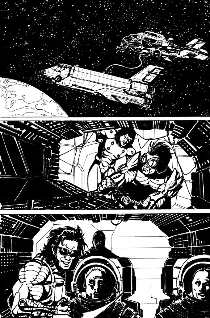 Sample image only. Each backer at this level will receive a different, one-of-a-kind page from Warhawks Issue One.