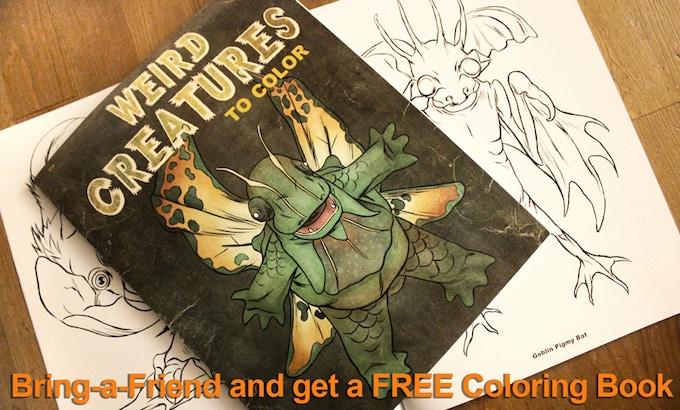 """Bring-a-Friend Reward """"Weird Creatures"""""""