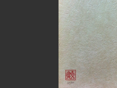 The Collector's Edition flyleaf will be handmade Japanese washi.