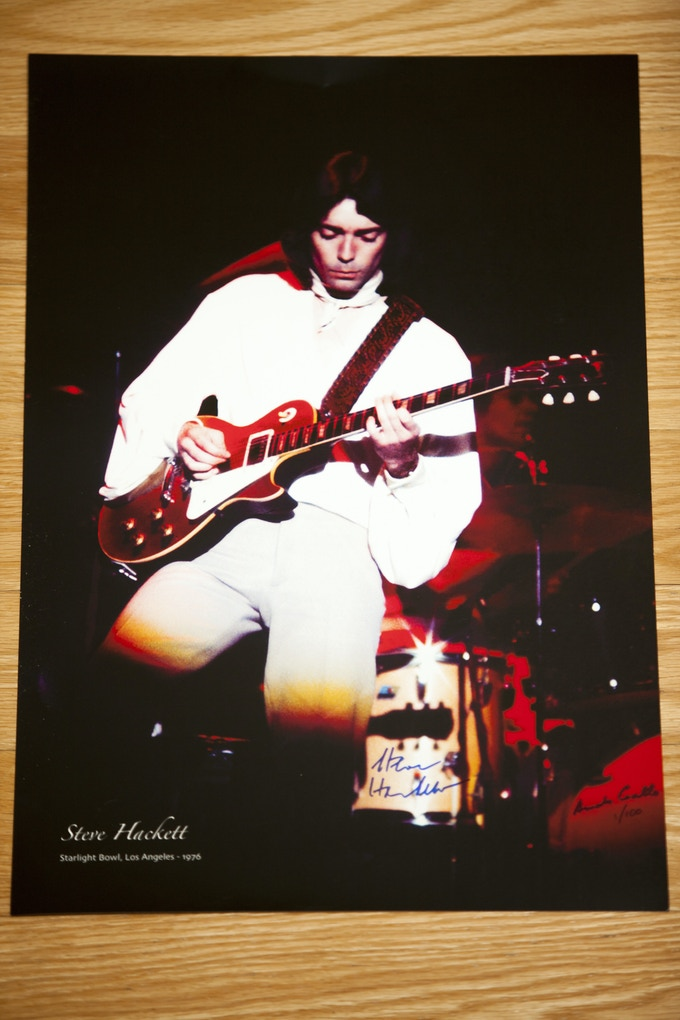 """Starlight Bowl Photo - Limited Edition of Only 100 - 12"""" by 18"""" Signed by Steve Hackett and Armando Gallo"""