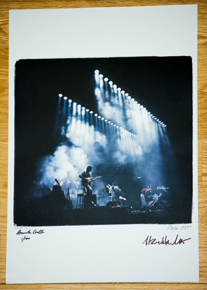 """Paris 1977 Photo - Limited Edition of Only 100 - 12"""" by 18"""" Signed by Steve Hackett and Armando Gallo"""