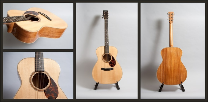 The Wes Lambe OM model guitar - pics courtesy of Wes Lambe