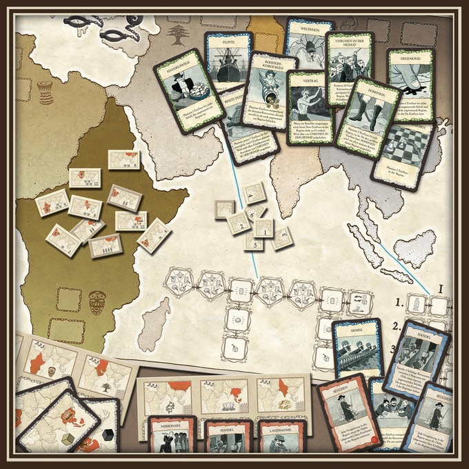 Shared Board Cause To Pause: Colonialism By Queen Games —Kickstarter