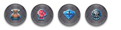 "1"" 'Status Effect' Button Pin Set"