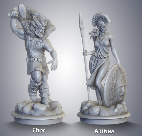 preproduction sculpts for limited edition resin models