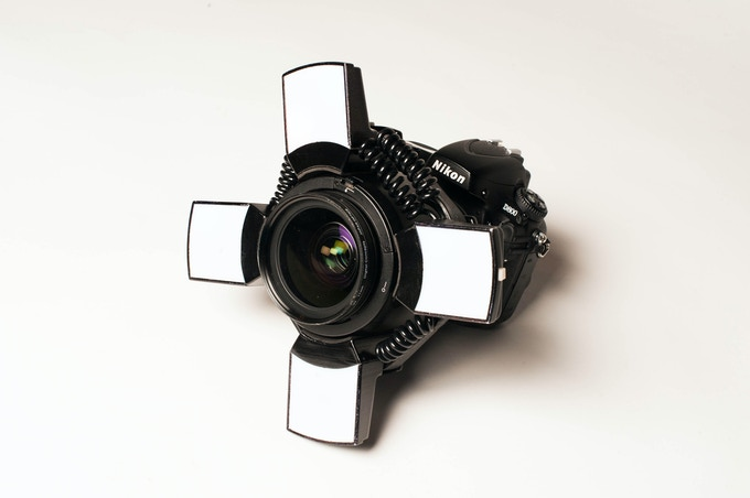 Use the Looky Loo Light as a stand for you lens.