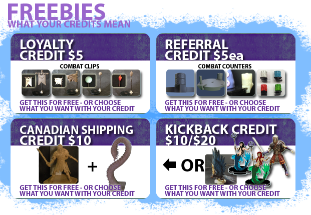 For more information on Canadian Shipping, Kickbacks, Loyalty, & Refer-A-Friend credits click here.