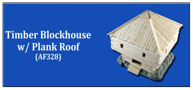 Timber Blockhouse w/ Plank Roof