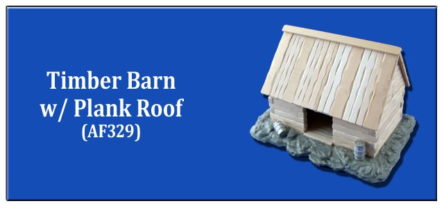 Timber Barn w/ Plank Roof