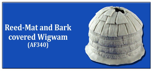 Reed-Mat and Bark Covered Wigwam
