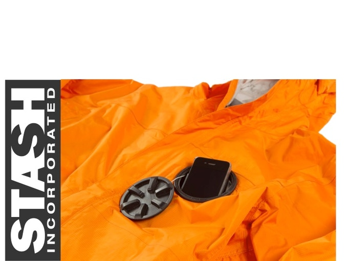 Stash Pocket + Waterproof Jacket  = The best of both worlds!