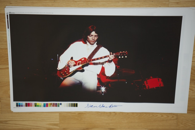"""Size: 27"""" x 20"""" - STEVE HACKETT Live. Forth Worth,TX May 1976 (photo signed by Steve)"""