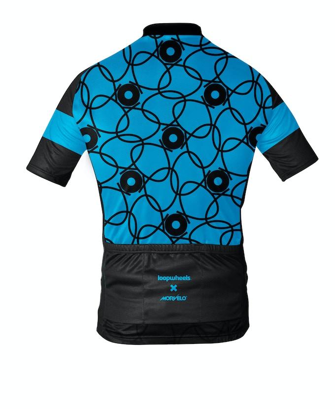 Morvelo's Loopwheels technical cycling jersey - reverse view