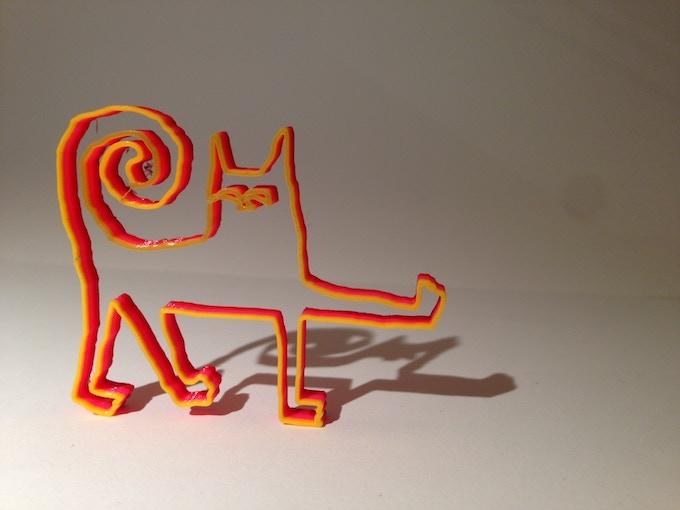 Meet our Doodle3D cat