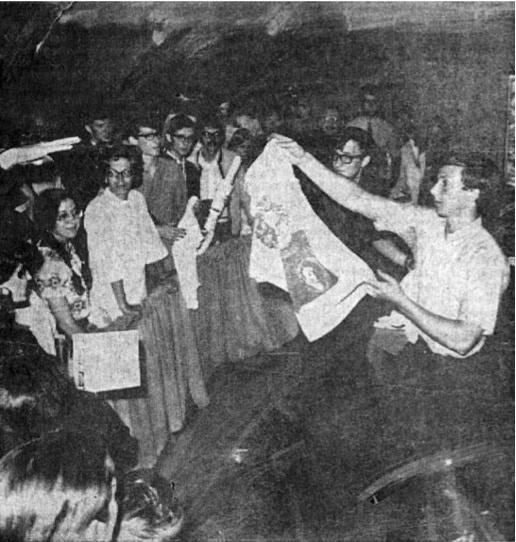 Live silkscreening at the HPSCHD premiere, 1969