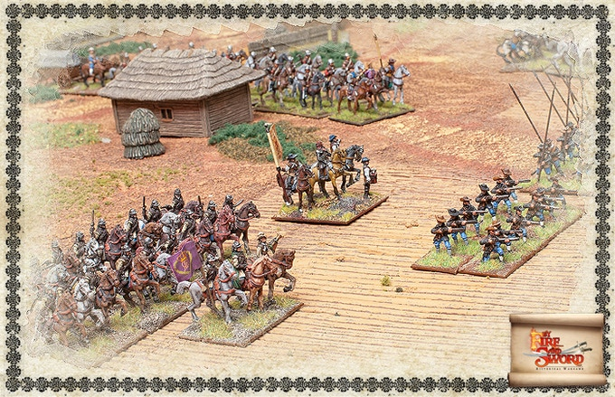 Swedish army on the battlefield.