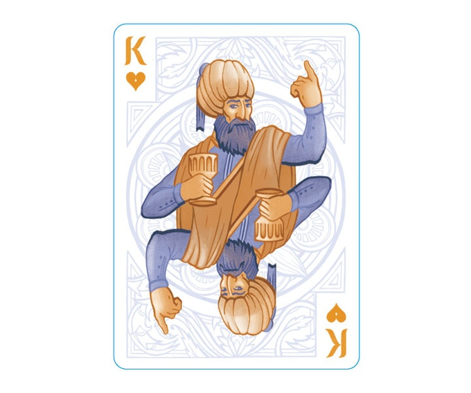 """The King of Hearts' pose is modeled after Socrates in Jacques-Louis David's """"Death of Socrates"""""""