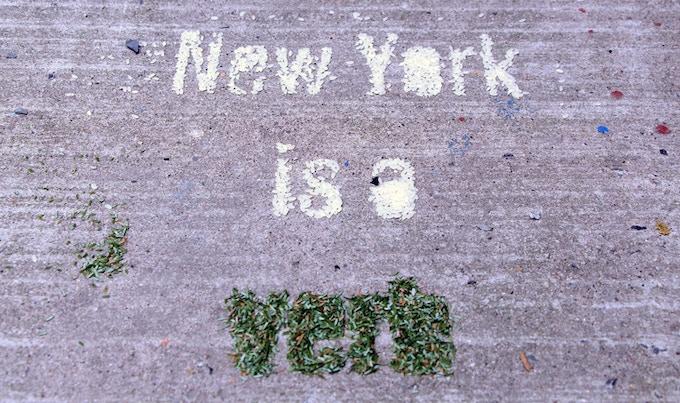 """New York is a Verb"" said by John F. Kennedy Jr."