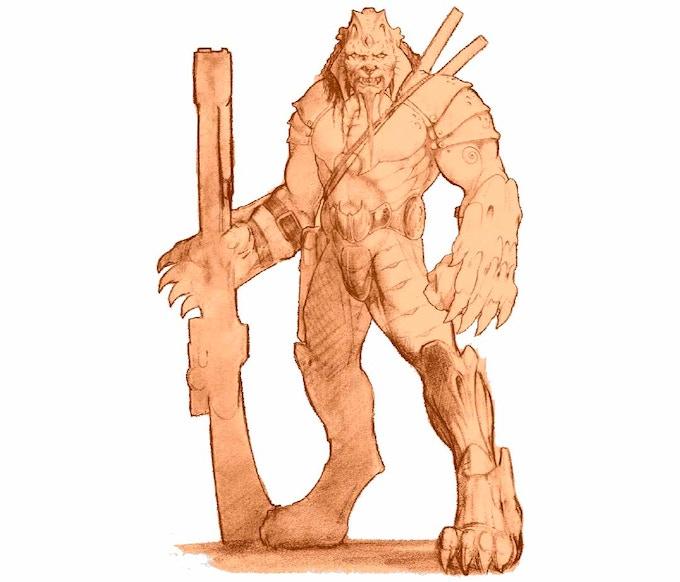 a Morthan Warrior