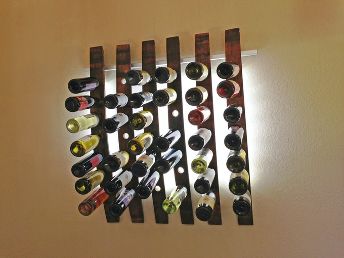 Lumi Wine Wall Six Staves
