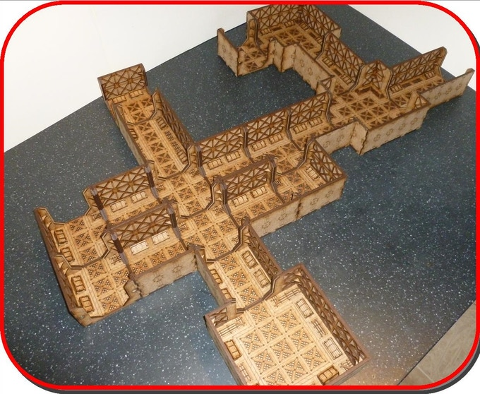 Set 1 as put together in the video, ready for a game