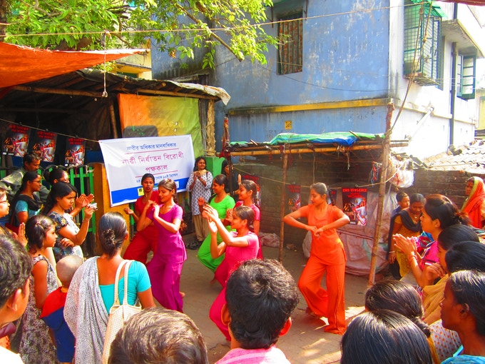 Kolkata Sanved dancers perform.