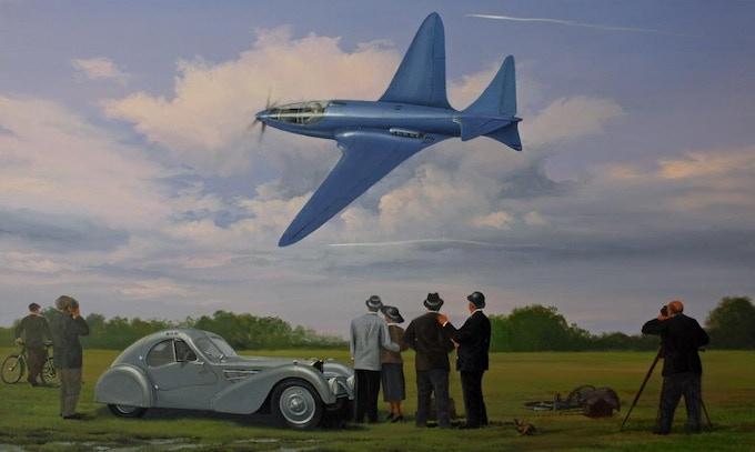 "Phil West Original Painting ""First Flight"""