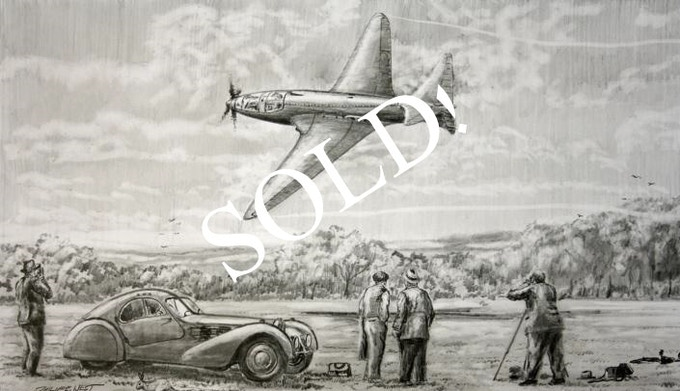 """""""First Flight"""" - original pencil drawing by Phil West"""