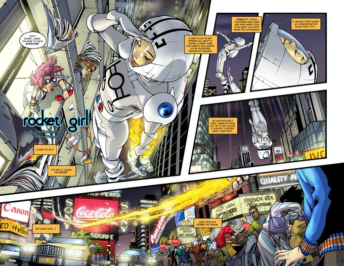 Rocket Girl pages 3-4