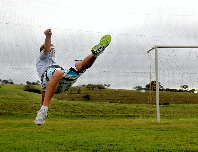 Bicycle kick, Jatai, Brazil