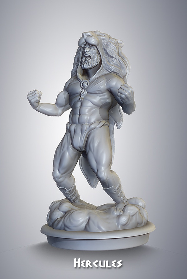 preproduction sculpt for resin miniature