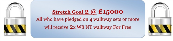 * * * * * 1st & 2nd Floor pledges on this stretch goal will receive 4 free walkways * * * * *