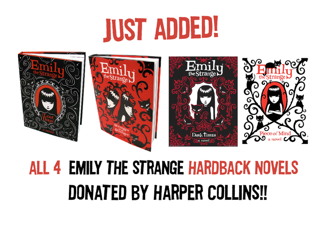 """$200 REWARD: ALL 4 Hardback Novels SIGNED, PERSONALIZED, DOODLED by Rob Reger, Jessica Gruner and Buzz Parker!! READ Emily's personal DIARIES! Winner of the American Library Association's """"Reluctant Reader List"""" (suggested books for USA Educators)"""
