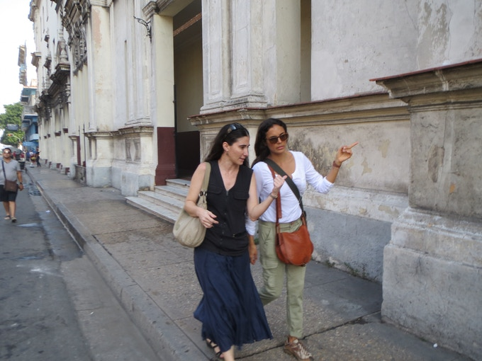 Yoani Sánchez & Kesia Elwin in Havana, Cuba