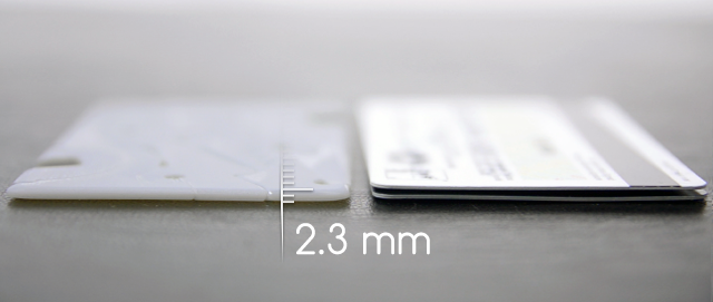 The Pocket Tripod is as thin as two credit cards stacked on top.
