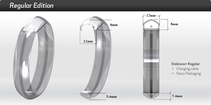 The design is 30% thinner on top than the prototype in our video and photos