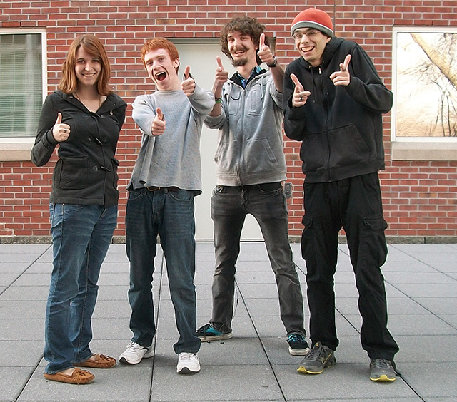 (Left to Right) Jill, Mike, Ryan, and Alex