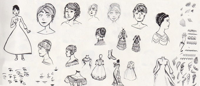 Pandora character concept sketches