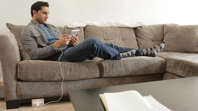 relax on the couch and enjoy continued use of your smart-device during charging