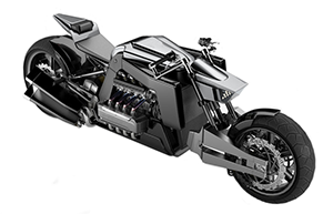 Backer-exclusive D-3X70 CONCEPT motorcycle